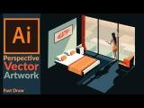 Drawing Perspective Vector Art in Adobe illustrator