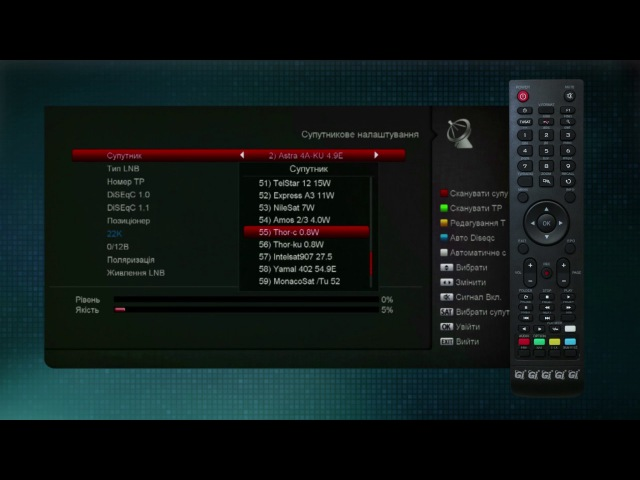 Инструкция по изменению параметров вещания каналов «СТБ», «ICTV», «Новый канал», «М1», «М2», «QTV» для тюнера GI HD MICRO PLUS