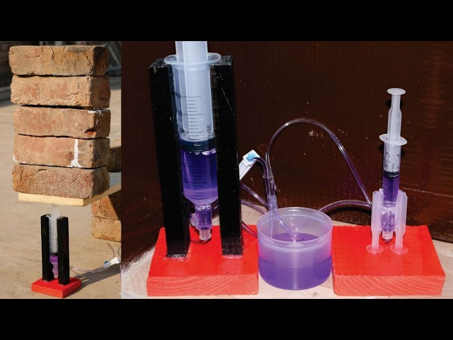 How to Make a Powerful Hydraulic Jack using Syringe