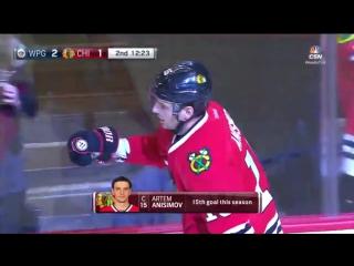 НХЛ 16-17 15-ая шайба Анисимова 27.12.16