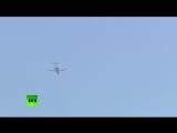 Опубликовано видео пролёта российского Ту-154 над Белым домом