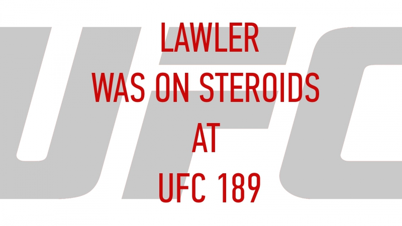Rory MacDonald Lawler Was On Steroids At UFC 189