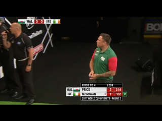 Gerwyn Price (Wales) vs Mick McGowan (Ireland) (PDC World Cup of Darts 2017 / Round 2)
