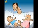 Роналду с двойняшками