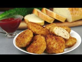 КУРИНЫЕ КОТЛЕТКИ С ТВОРОГОМ - детки в восторге! Chicken Cutlets With Сottage Сheese