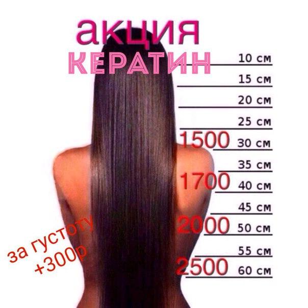 Акция выпрямление волос