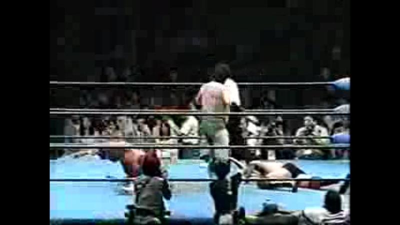 Mitsuharu Misawa, Jun Akiyama vs. Steve Williams, Johnny Ace - June 7, 1996