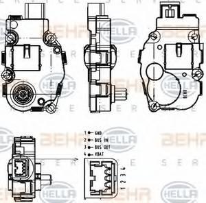 Регулировочный элемент, смесительный клапан для BMW 7 (F01, F02, F03, F04)