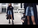 ✂️DIY Old Jeans to Color Blocked Denim Skirt Qformation EP.1