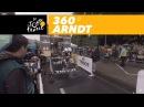 Nikias Arndt starts the time trial - 360° - Tour de France 2017