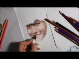 J-hope BTS The Brightest Star drawing (by Elena Martynyuk)