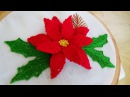 Hand Embroidery Detached 3D Flower Stitch Christmas Theme