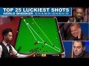TOP SHOTS TOP 25 LUCKIEST SHOTS World Snooker Championship 2017
