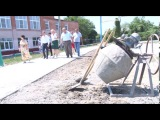 В седьмой гимназии города Крымска строится баскетбольная площадка и беговая до ...