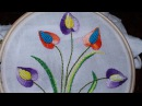 Hand Embroidery Designs Cushion cover design Stitch and Flower 101