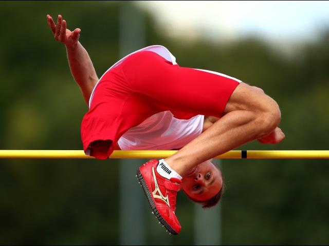 Men's high jump T42 2014 IPC Athletics European Championships Swansea