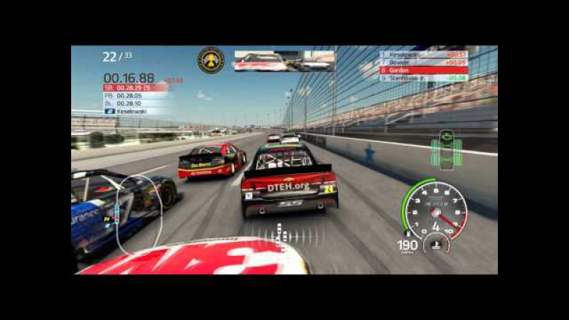 NASCAR 14 - Early Preview Texas 33 Laps - Pitting And Yellows
