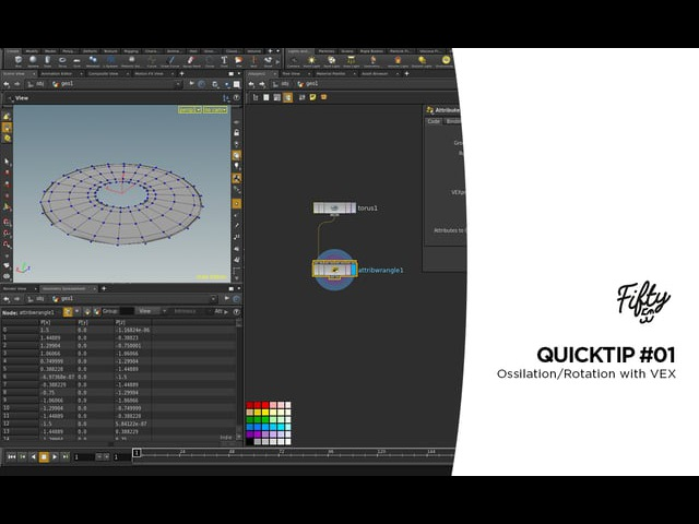 Houdini Quicktip 01- Ossilation/Rotation with VEX