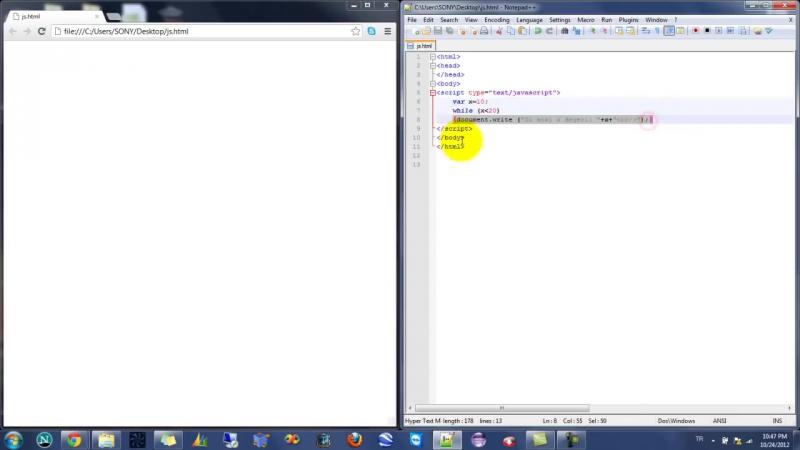 Yakın Kampüs - Javascript Ders 12 - Javascriptte While Komutu