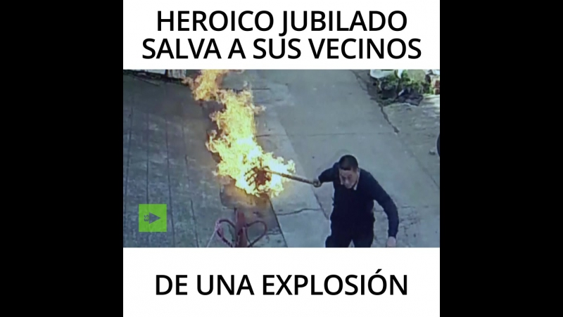 Heroico jubilado salva a sus vecinos de una explosión