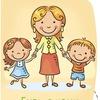 Счастливая мама, малыш и папа