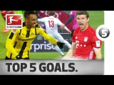 Чемпионат Германии 2016-17 / Лучшие голы 25-го тура / Топ-5 [HD 720p]
