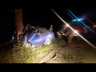 Авария между Ермолино-Городок Шеврале лачети гос. номер 401 если не ошибаюсь.. На скорости около 120 км/ч врезался в дерево прос