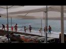 Крым, Судак, шторм на пляже, купание отважных. 22 июня 2017 г