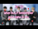 Eng Sub/HD 2.11.16 B.A.Ps private life - Good night message