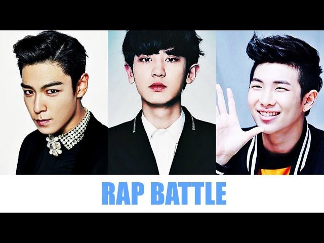 T.O.P VS Chanyeol VS Rap Monster (Rap Battle)