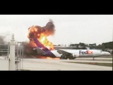 Пожар в самолете США
