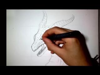 рисуем дракона