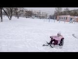 2016 Николетта на снегокате!!