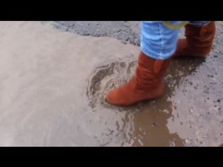 Nano reflector Textile на замшевой обуви