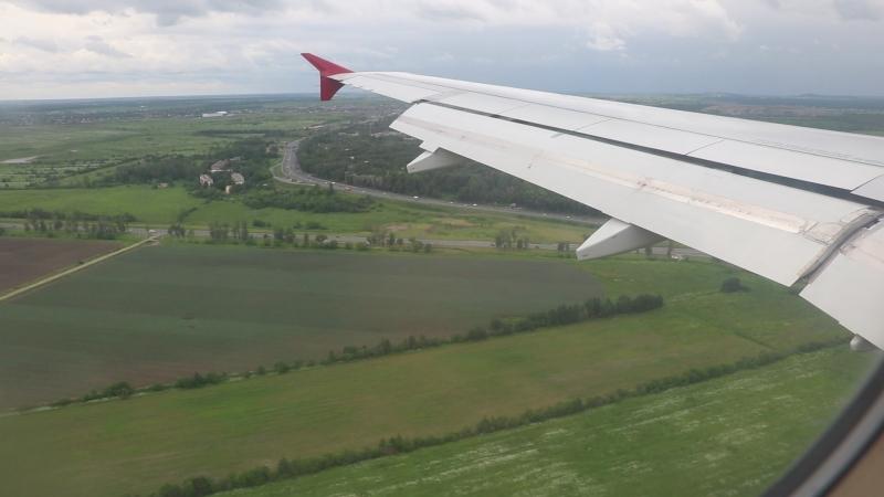 Заход на посадку на 28L в Пулково. А320 Россия.