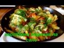 Картошка жареная на сале. Potatoes fried in lard