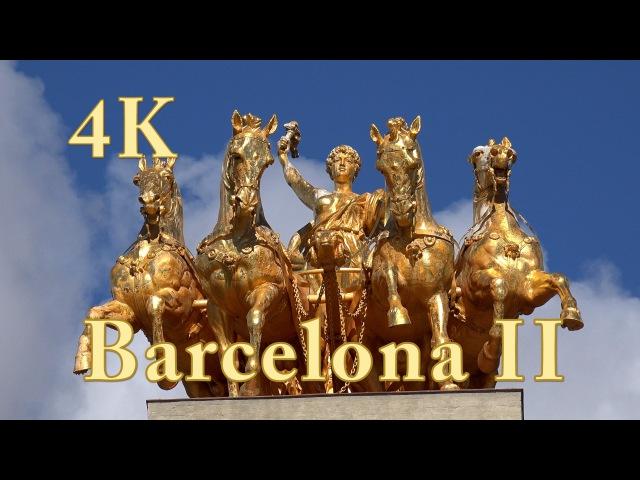 Barcelona II, City Tour Doku mit Sehenswürdigkeiten. Video 4k ultra hd