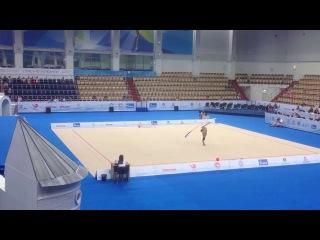 Aleksandra Soldatova ribbon training 2017 Kazan World Challenge