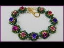 DIY | Blumen Armband aus Perlen fädeln | Flower beaded bracelet with bicones | jewelry