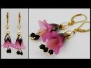 DIY | Blumen Ohrringe | Schmuck basteln | Easy flower earrings with bicones | jewelry