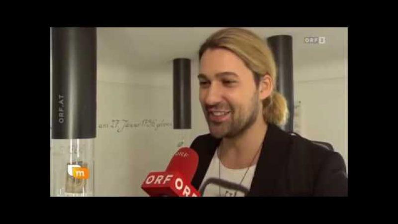 David Garrett in Mozarts birthplace (Salzburg) Reportaz of German tv ORF2