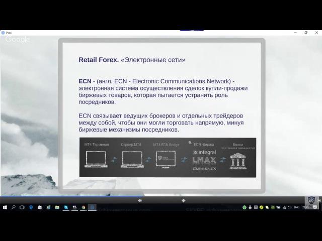 ECN брокер - Электронные Сети. Как это работает? Фрагмент вебинара. Виталий Сергие ...