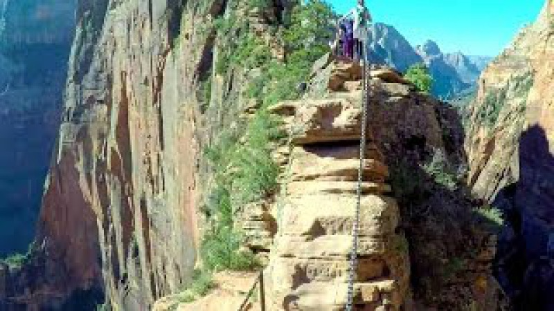 Most Dangerous Hike in America and Hoodoos- Angel's Landing and Bryce Canyon- Epic Road Trip Day 2