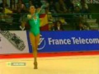 Алина Кабаева - скакалка (многоборье) // Чемпионат Европы 1998
