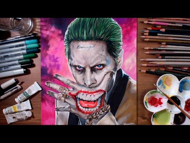 Suicide Squad : Joker (Jared Leto) - speed drawing | drawholic