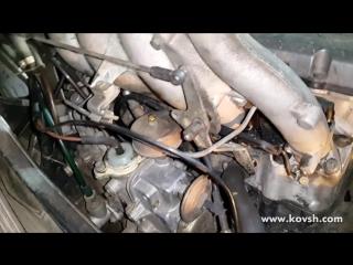 Стук в 601-м моторе Mercedes по причине слабой натяжки цепи ГРМ