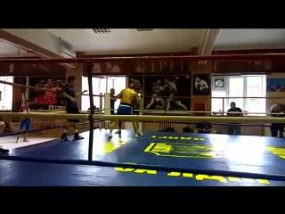 Cпарринги  Сваев Рустам - Евченко Алексей  экс- чемпион Европы профессионального бокса 2011года