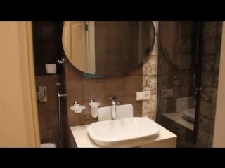 Ванная комната в ЖК Wellton Park душевая строительного исполнения.