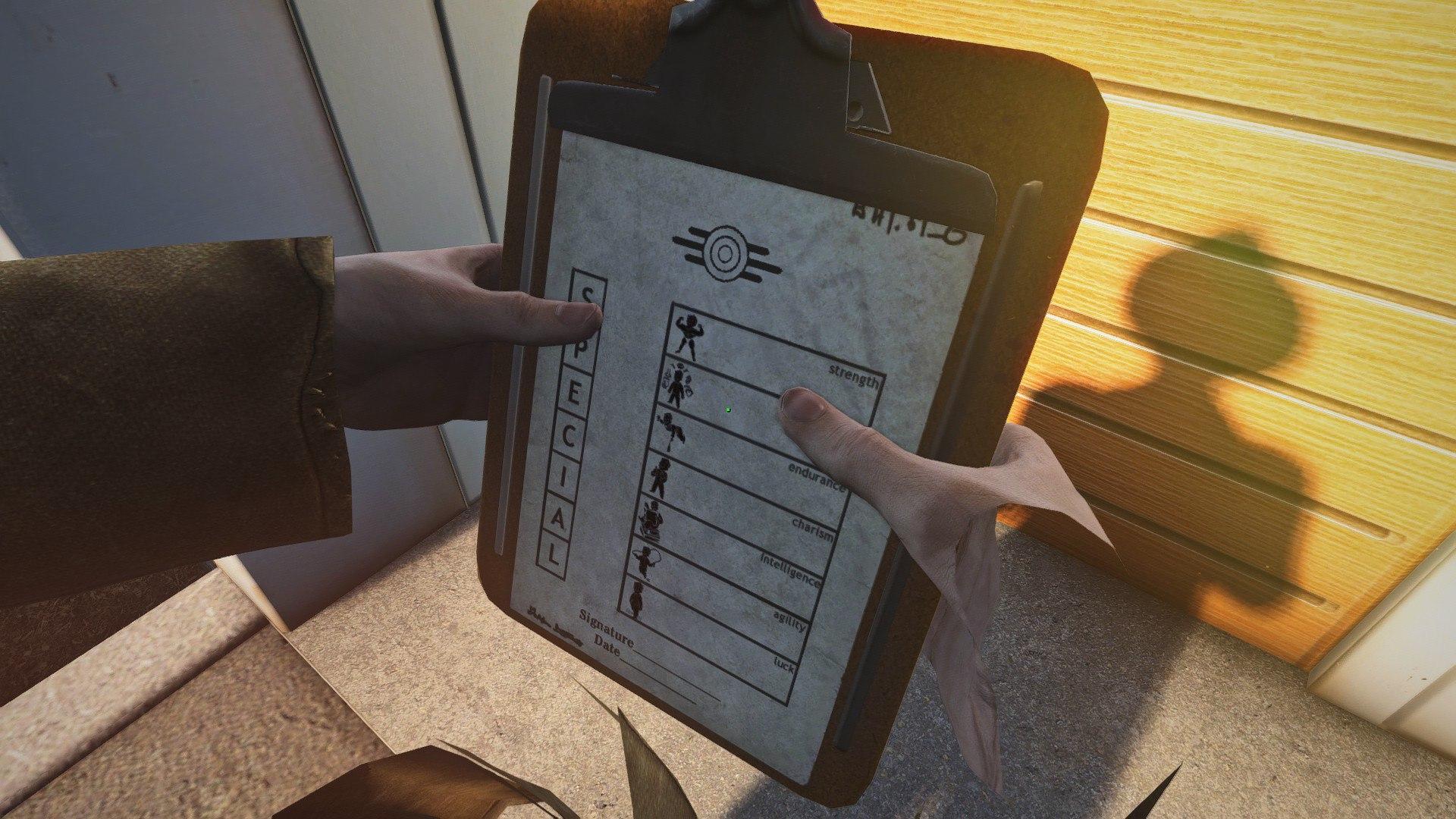Вот чту у представителя Vault-Tec на планшете.