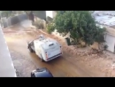 Israeli occupation forces sprinkle wastewater on Palestinian homes